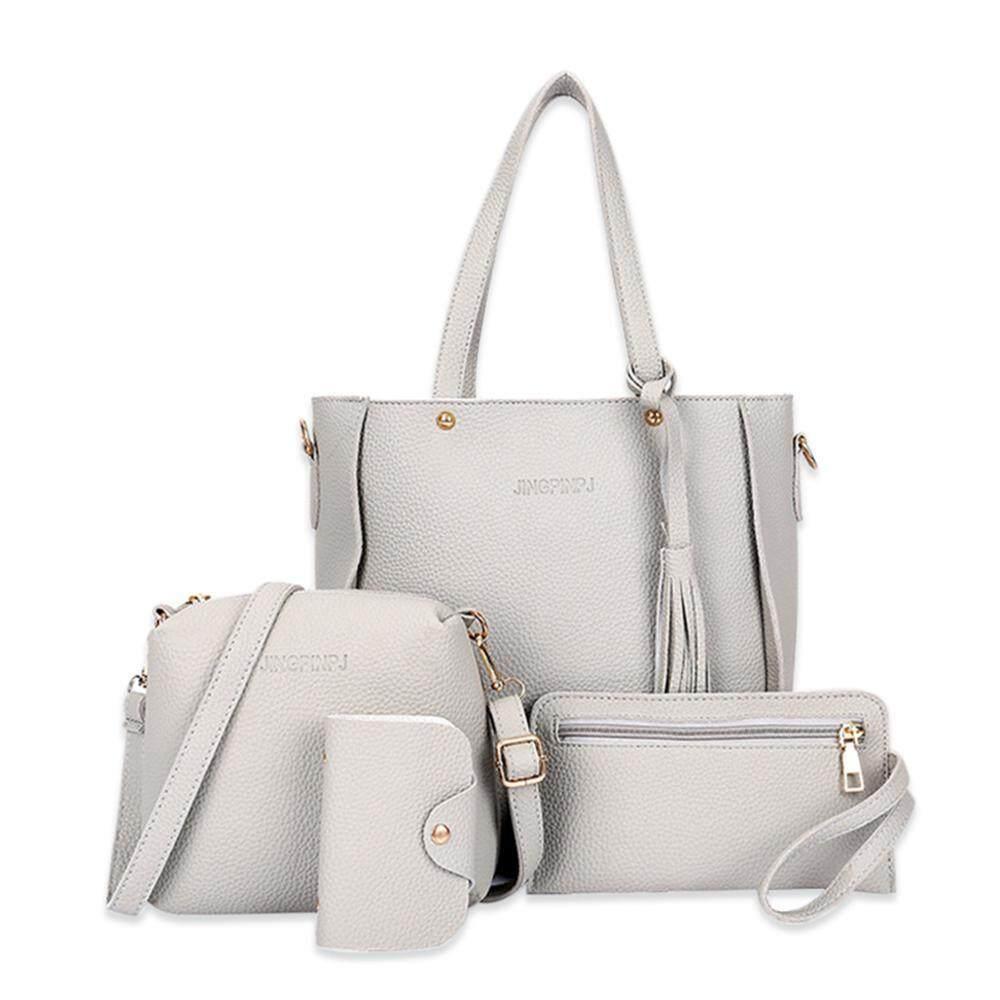 HOSdog 4Pcs Larger Capacity Top Handle Satchel Fashion Handbags For Women