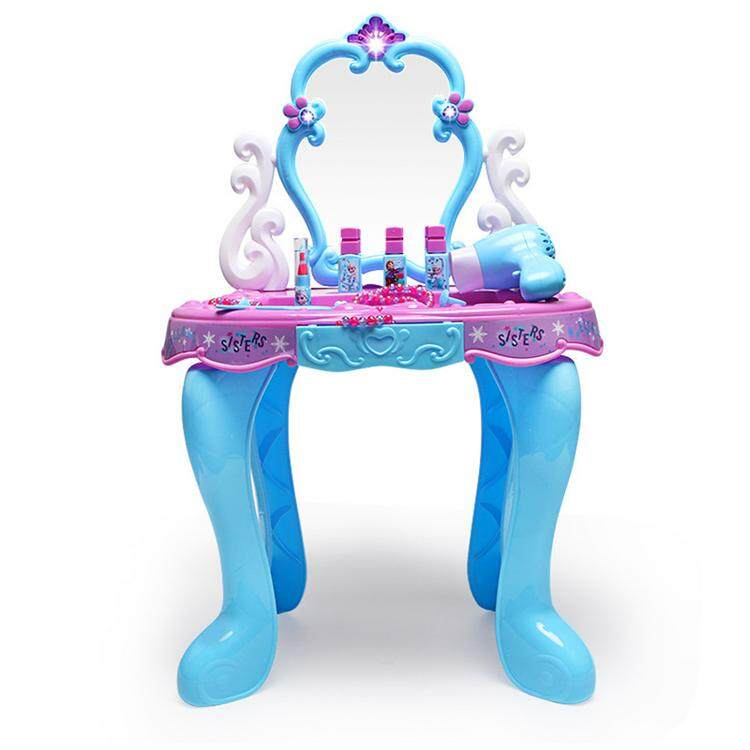 Hldb Frozen Dressing Table With Accessories Dresser Table Play Set Pretend Play Toys For Girls Kids.