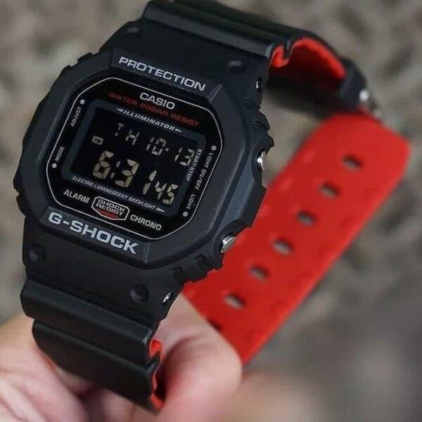 Casio G-Digital Shock Black Red Double Strap Malaysia