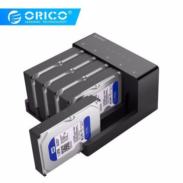 Orico 2.5 3.5 Sata Hdd Docking Station Super Speed Usb 3.0 Hard Drive Enclosure Support 10Tb 5 Bay Offline Clone Black 6558Us3-C