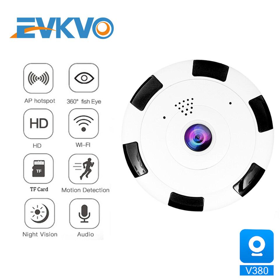 EVKVO - 1080P HD V380 APP 360 Degree Panoramic Wide Angle MINI Cctv Smart IP Camera CCTV Fisheye