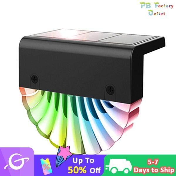 Vỏ Acrylic Sạc LED, Đèn Cầu Thang Màu Trắng Ấm Áp Nhiều Màu RGB Năng Lượng Mặt Trời