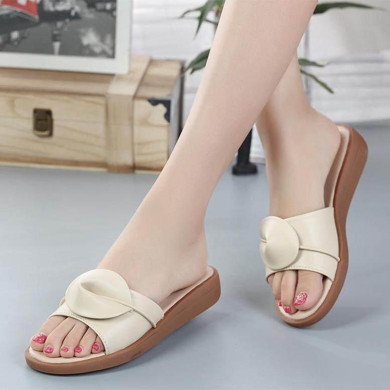 Giày Nữ Mùa Hè Dosreal Giày Da Dép Đế Xuồng Không Trơn Trượt Dép Đi Biển Gót Thấp Cho Nữ Giày Nữ Boho Giày Hở Ngón Mũi Nhọn giá rẻ