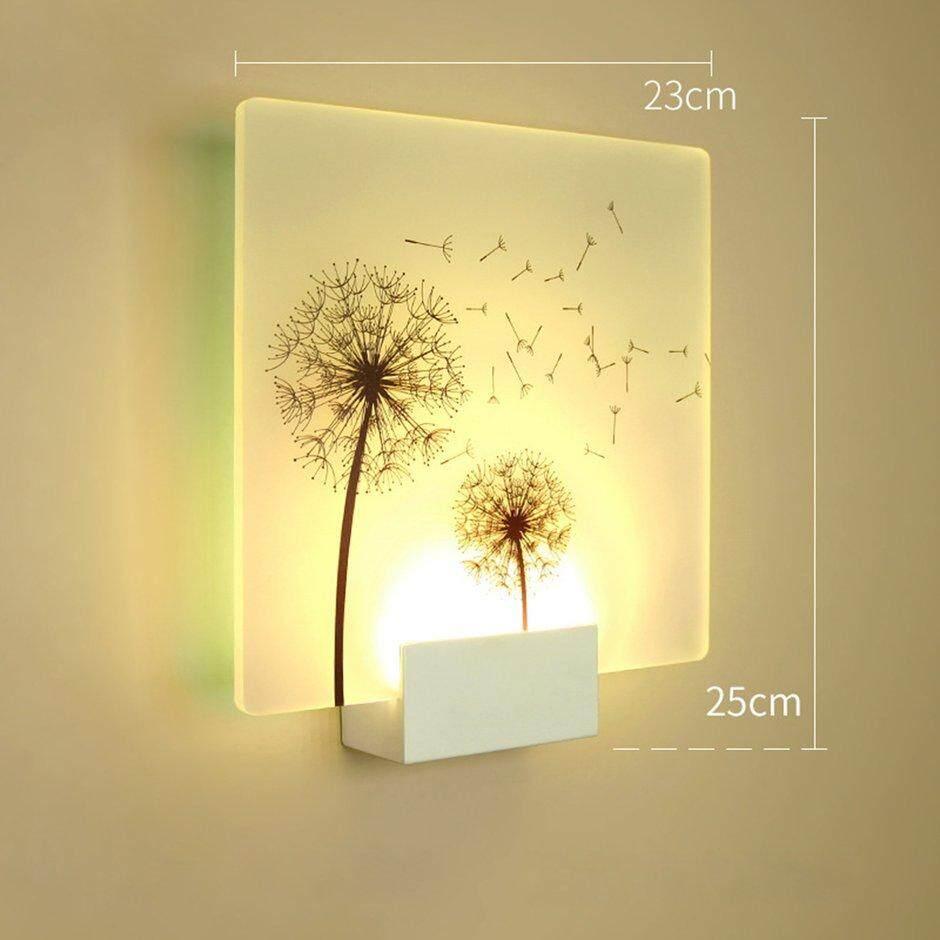 Best Sales Dandelion Shape LED Wall Light Bedside Fashionable Household Light