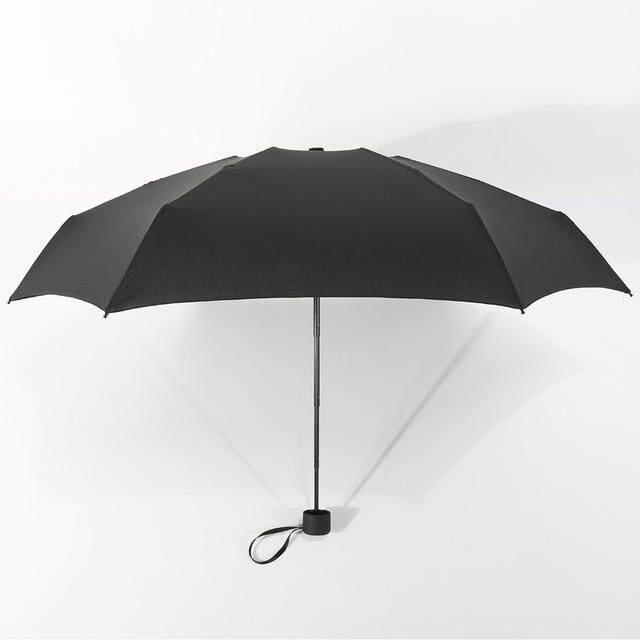 Mini bolsillo paraguas mujer UV paraguas pequeños 180g lluvia mujeres impermeable de los hombres sol sombrilla conveniente chicas de Parapluie chico,Black,China