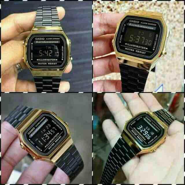 Casio A168 Black vs Gold Malaysia