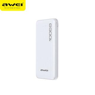 Sạc Dự Phòng Awei P28K, Poverbank Sạc Nhanh 10000MAh Sạc Di Động Pin Kép USB 2.1A Bên Ngoài, Dành Cho Xiaomi iPhone 11 2