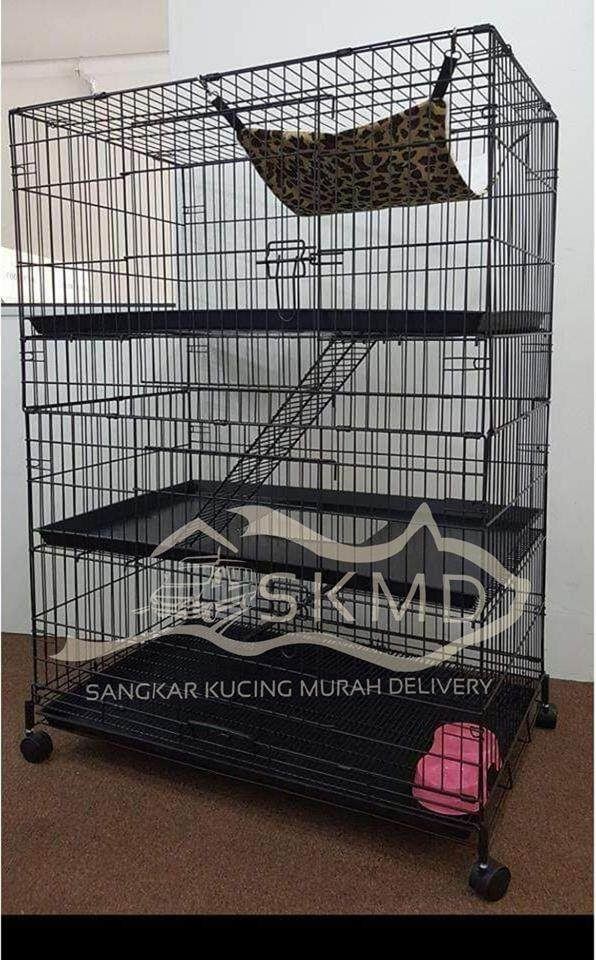 Cat Cage 3 Level By Sangkar Kucing Murah Delivery.