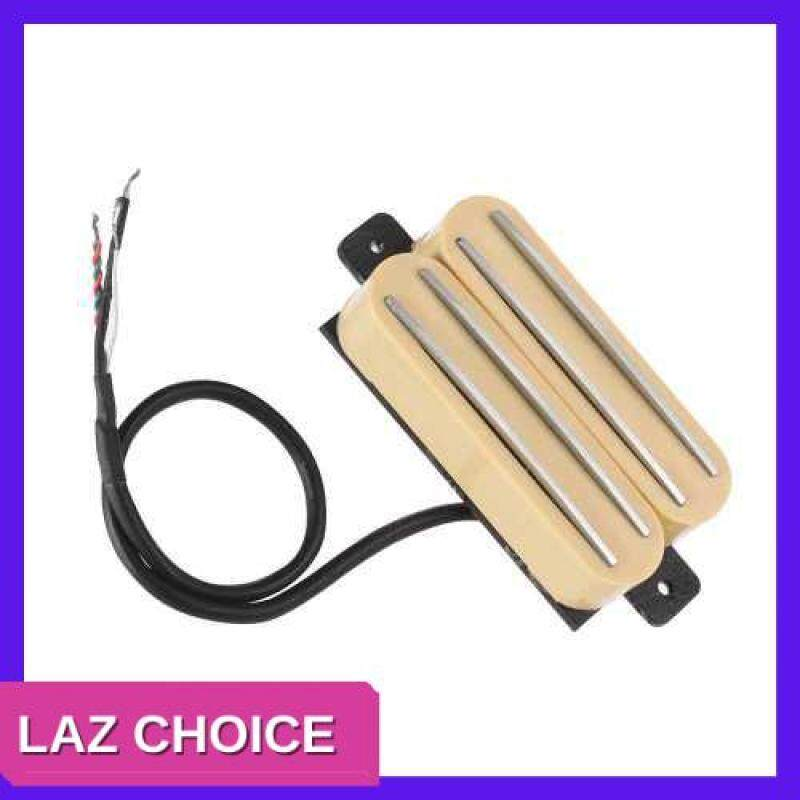 LAZ CHOICE Double Twin Hot Rail Humbucker Pickup with 4 Wires for ST LP Electric Guitar Replacement Parts (Yellow) Malaysia