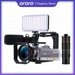 Máy Quay Video 4K Ordro AZ50, Máy Quay Tầm Nhìn Ban Đêm Bộ Ghi Video WiFi Phóng To Kỹ Thuật Số 64X Cho Vlog YouTube thumbnail