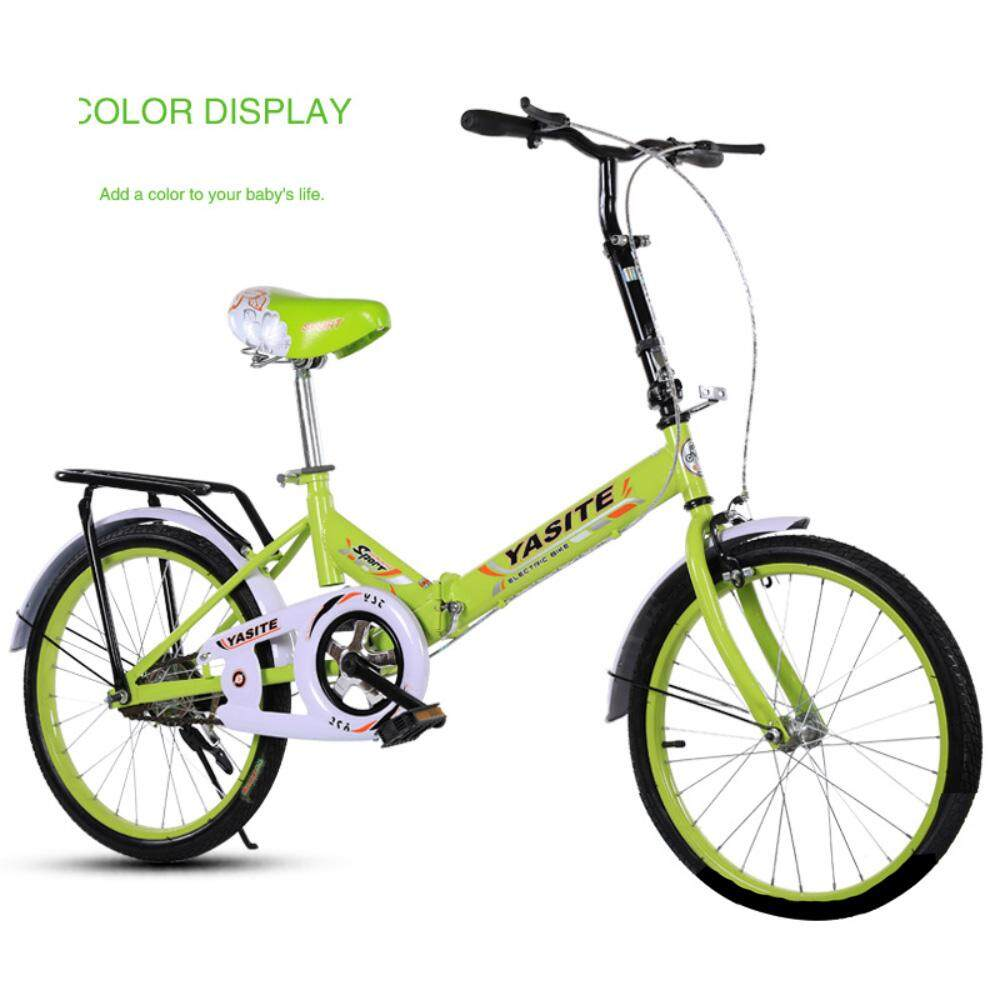 59a59daed47 (2019 New Release) Kumronmo Lightweight 20 Inch Folding Bicycle Shock  Absorber Adult Student Bicycle