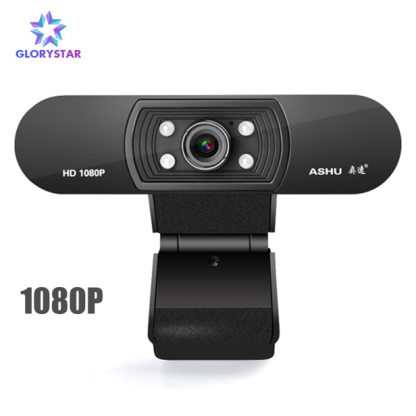 GloryStar Webcam 1080P Night Vision USB HD Web Camera with Built-in Microphone for Laptop Desktop