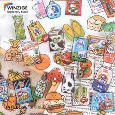 Nhãn Dán Đồ Trang Trí Hình Trái Cây Sữa Winzige Dễ Thương 40 Miếng Cho Trang Trí Nhật Ký Bujo