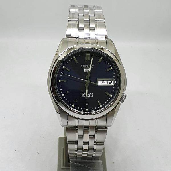 [Genuine] Seiko 5 SNK357K1 Automatic Stainless Steel Blue Dial Analog Mens Casual Watch Malaysia
