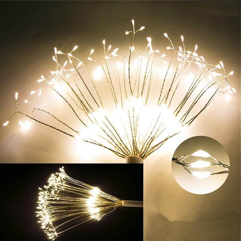 Treo Pháo Hoa LED Cổ Dây Đèn Trang Trí Tiệc Giáng Sinh Xmas 8 Chế Độ Từ Xa