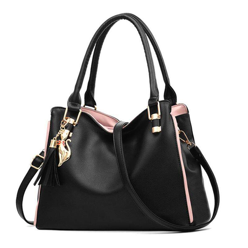 Women Messenger New Female Top-Handle Bag Girls Simple Shoulder Bags Women Handbags For Lady Totes Fashion Party Pack(Black)