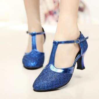 GO MALL ผู้หญิงบอลรูม Tango Latin Salsa เต้นรำรองเท้าเลื่อมรองเท้าสังคมรองเท้าเต้นรำ