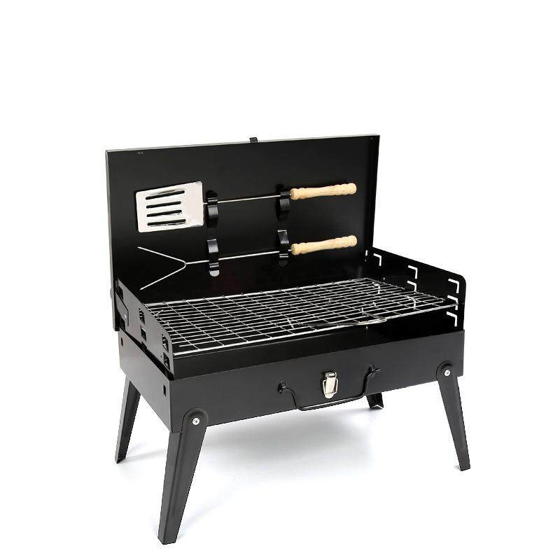 Foldable Portable Outdoor BBQ Grill Set, Desktop BBQ