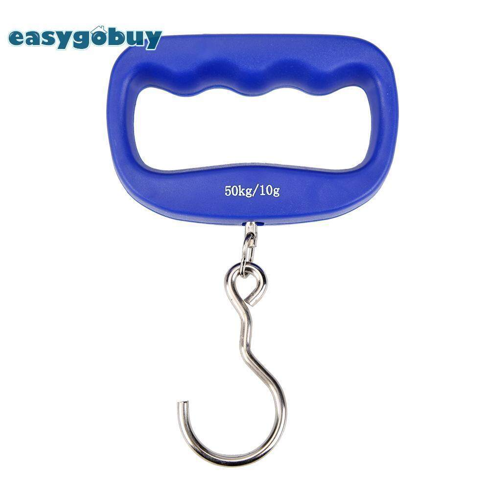 [easygoingbuy] 50kg/10g Electronic Baggage Scale Handheld Hook Scale Luggage Weighing Tool