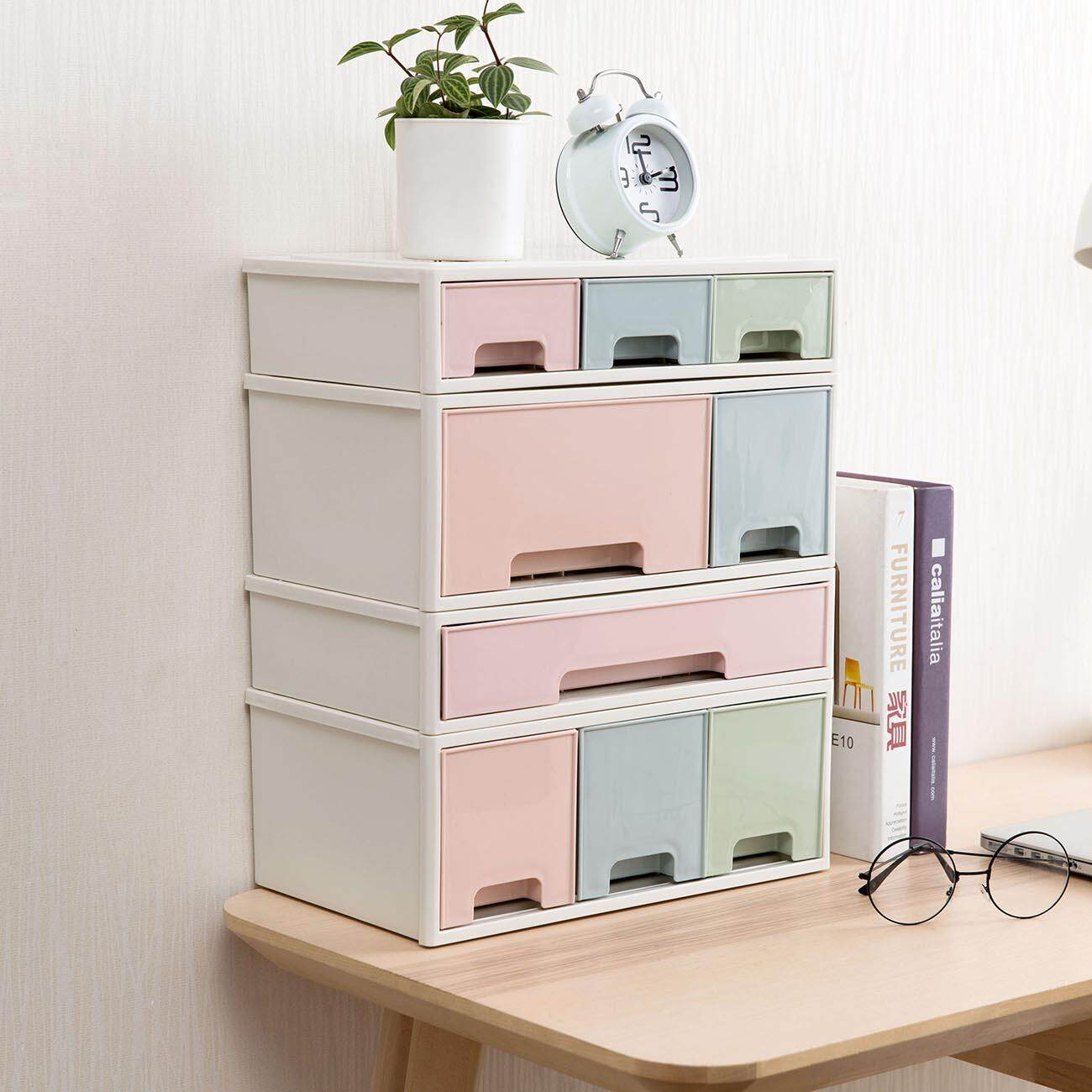 Homenhome Four-layer Storage Drawer Stackable Storage Box Multipurpose Desktop Box