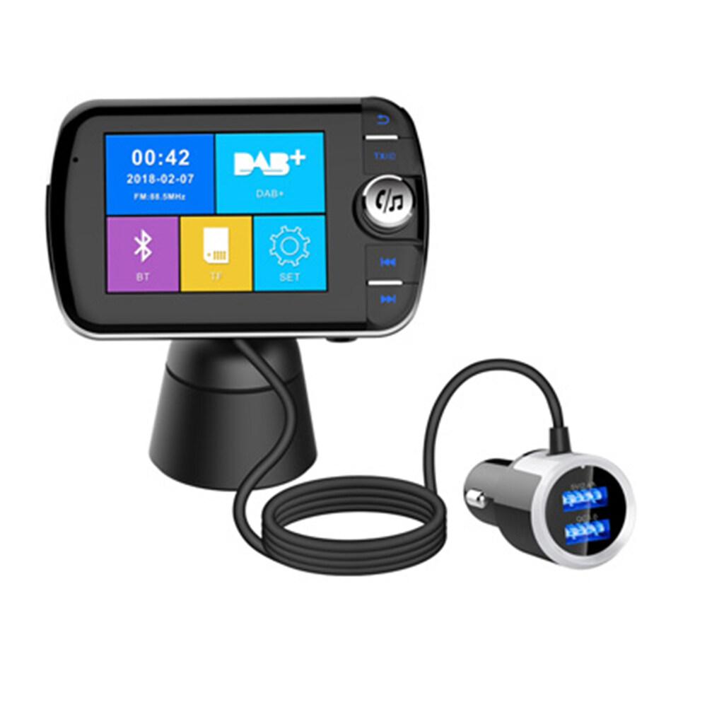 Dab004 Car Bluetooth Dab Digital Radio Bluetooth Mp3 Player Fm Transmitter Plug And Play Adaptor.
