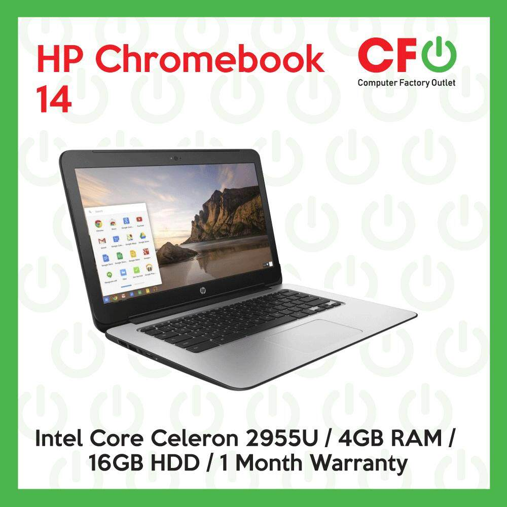 HP Chromebook 14 / Intel Core Celeron 2955U / 4GB RAM / 16GB HDD / 1 Month Warranty(Factory Refurbished) Malaysia