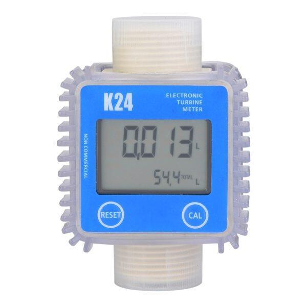 [24 hour delivery]Digital K24 Turbine Flow Meter Water Fuel Flow Water Meter 10-120L Min Flowmeter For Chemicals Water Flow Ultrasonic Flow