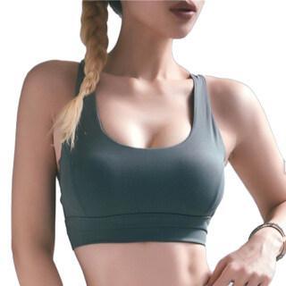 AIOJIE Sexy Phụ Nữ Rắn Màu Áo Ngực Thể Thao Không Tay Backless Yoga Bralette Tank Top thumbnail
