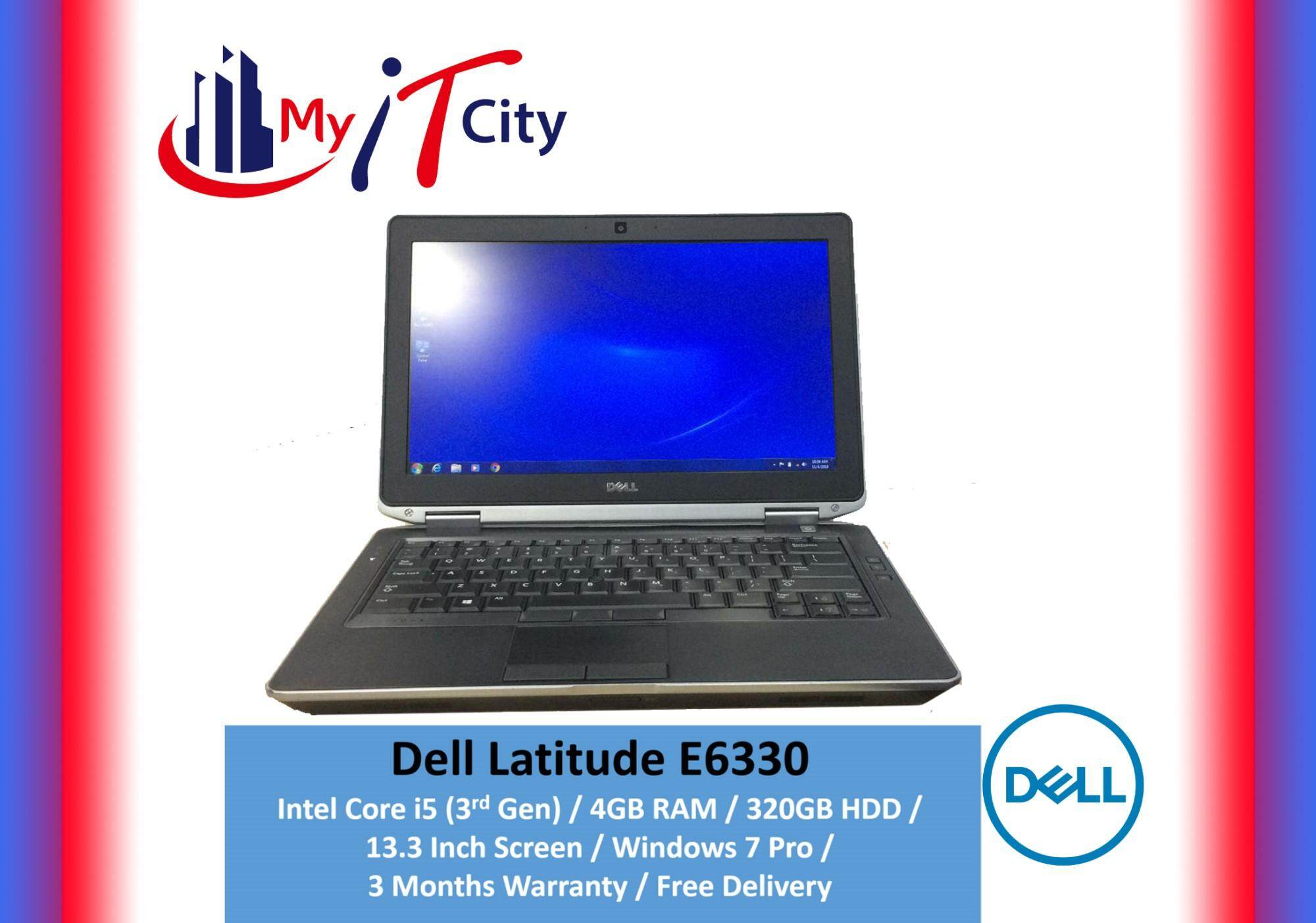 Dell Latitude E6330 Laptop - Core i5 (3rd Gen) / 4GB RAM / 320GB HDD / Windows 7 Pro / 3 Months Warranty (Refurbished) Malaysia