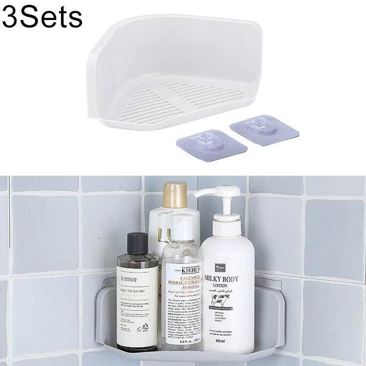 Bộ 3 sản phẩm Phòng Tắm Nhà Bếp Góc Treo Tường Xả Kho (Màu Xám)