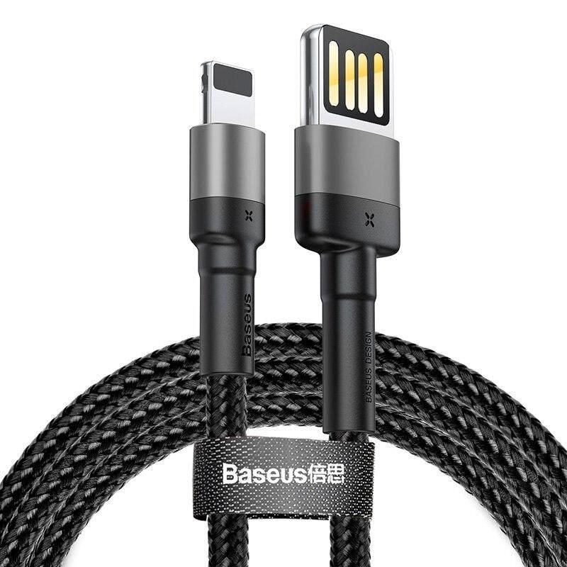 BASEUS Kabel Usb 1 M 1 Meter untuk iPhone X Max XR X 8 7 6 6 S PLUS 5 5 S SE Ipad Pro 2.4A Cepat Pengisian Charger Data Kabel Telepon Seluler Kabel