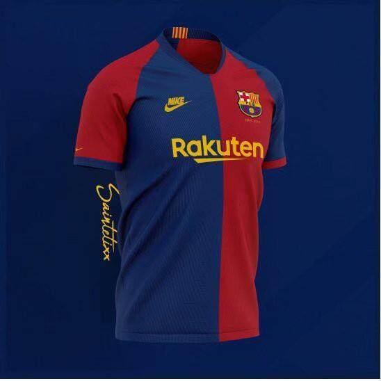 80ea43ddff3 19 20 Barcelona Soccer Jersey 2019 Football Jersi Tshirt Barca By Seven  Tesco.