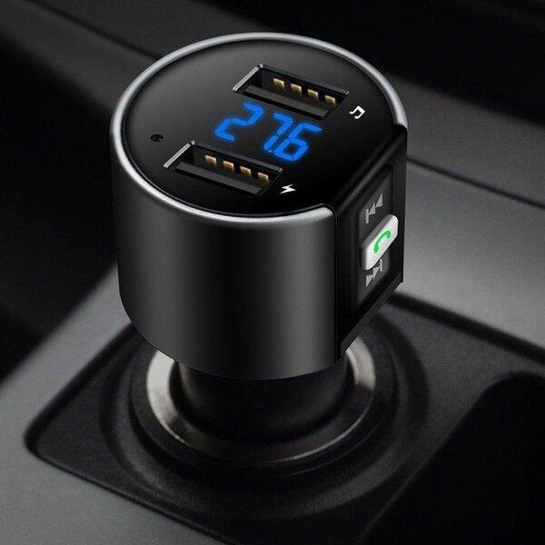 2 Micro Bluetooth Không Dây Rảnh Tay USB, Xe FM Transmitter MP3 Máy Nghe Nhạc