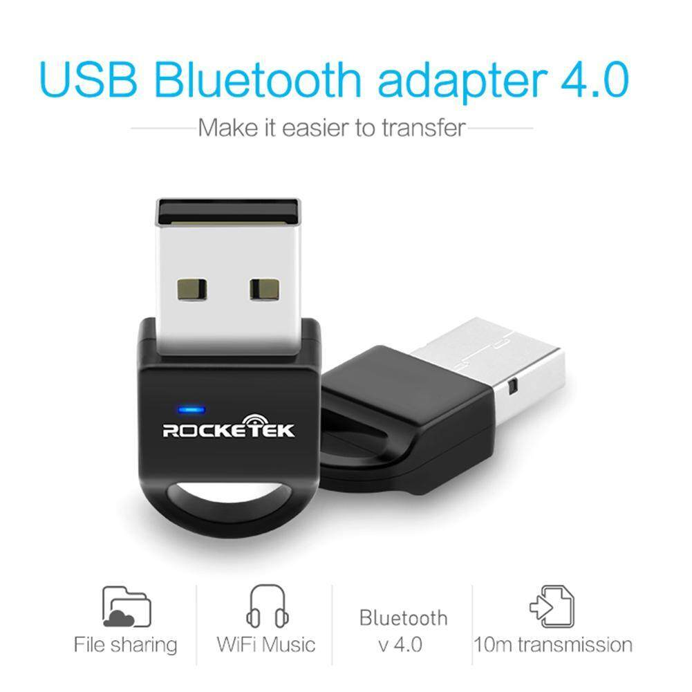 Rocketek BT4B USB Wireless Receiver 4.0 Bluetooth Adapter for PC Phone