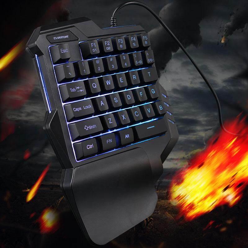 Delicate Mechanical Keyboard Gamers Control Computer Phone Pc 35 Keys Usb Rgb One-Hand Keyboard Usb Keyboard Games Gaming Keyboard By Triumphant.