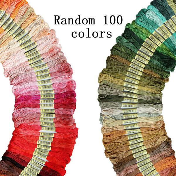 Bảng giá SHOOTHE 100 Cái Polyester Màu Sắc Ngẫu Nhiên Thêu Chủ Đề DIY Handmade Công Cụ Cross Stitch Braided Rope May Nguồn Cung Cấp 8M Điện máy Pico