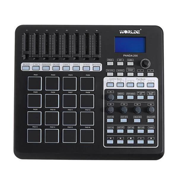 WORLDE PANDA200 Portable 16 Drum Pads USB MIDI Controller Keyboard LED Backlit MIDI Pad Controller - Malaysia