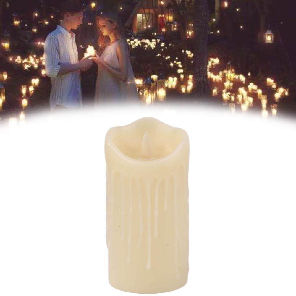 Lãng mạn Điện Tử ĐÈN LED Nến Flameless Wavering Nhấp Nháy Trang Trí Halloween