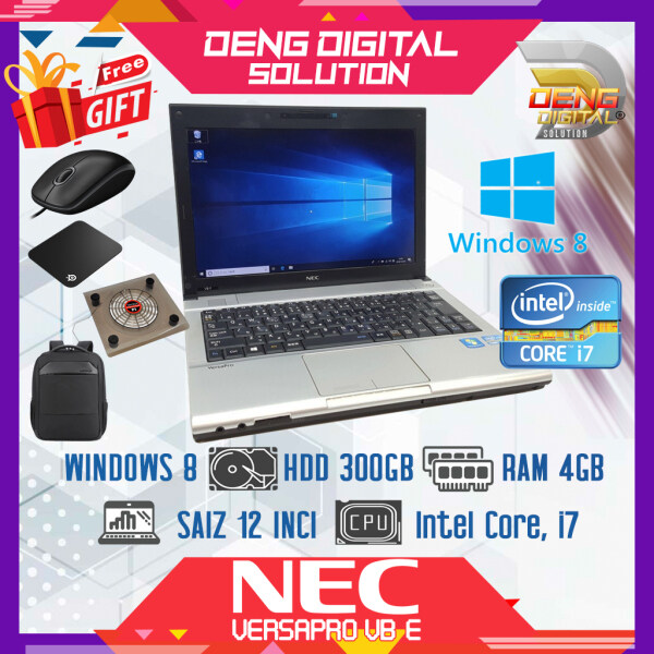 Laptop Budget Murah - NEC Versapro VB-E 12 Inci, Windows 8, HDD 300GB, 4GB Ram, Intel Core i7 Malaysia