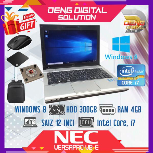 Laptop Budget Murah - NEC Versapro VB-E 12 Inci, Windows 8, HDD 300GB, 4GB Ram, Intel Core i7 Malaysia