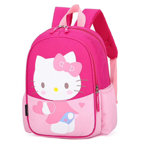 Giá bán Ba Lô Đi Học Siêu Nhẹ Chống Nước Hình Mèo Kitty Hello Kitty Dễ Thương Cho Bé Gái-Intl