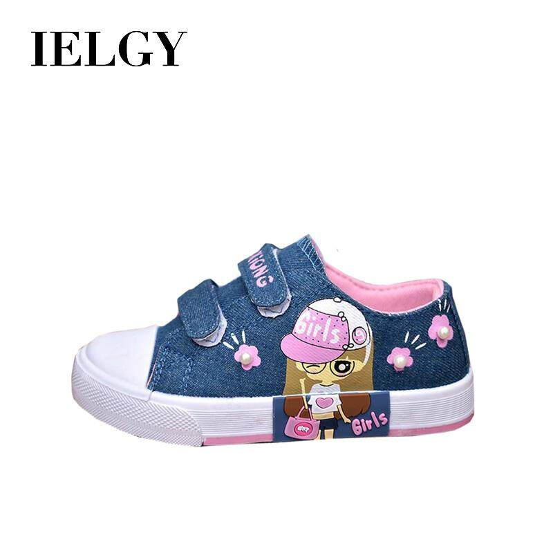 Giá bán IELGY Sepatu anak-anak bayi sepatu kanvas anak-anak sepatu gadis sepatu siswa anak-anak