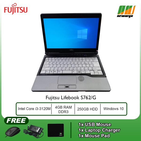 Laptop Fujitsu Lifebook S762/G - Intel Core i3-3120M @ 2.50GHz / 4GB RAM DDR3 / 250GB HDD / WIN 10 Malaysia