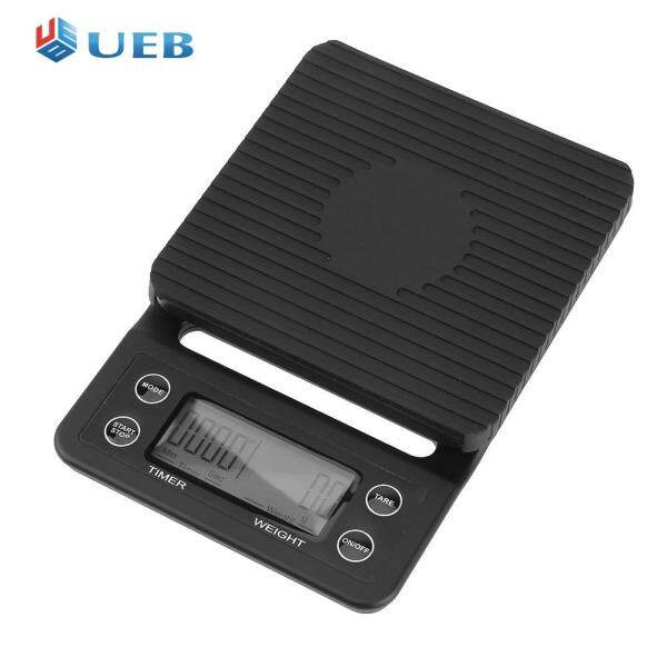 5kg/0.5g LCD Digital Coffee Weighing Scale Home Kitchen Bar Timer Balance