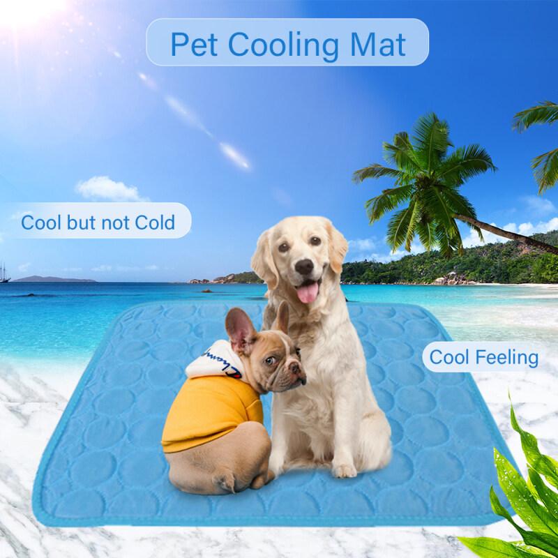 Pet Time thảm làm mát mùa hè cho thú cưng thoáng khí Pet Pad di động có thể giặt được PET làm mát chăn cho vật nuôi nhỏ vừa lớn sử dụng ngoài trời