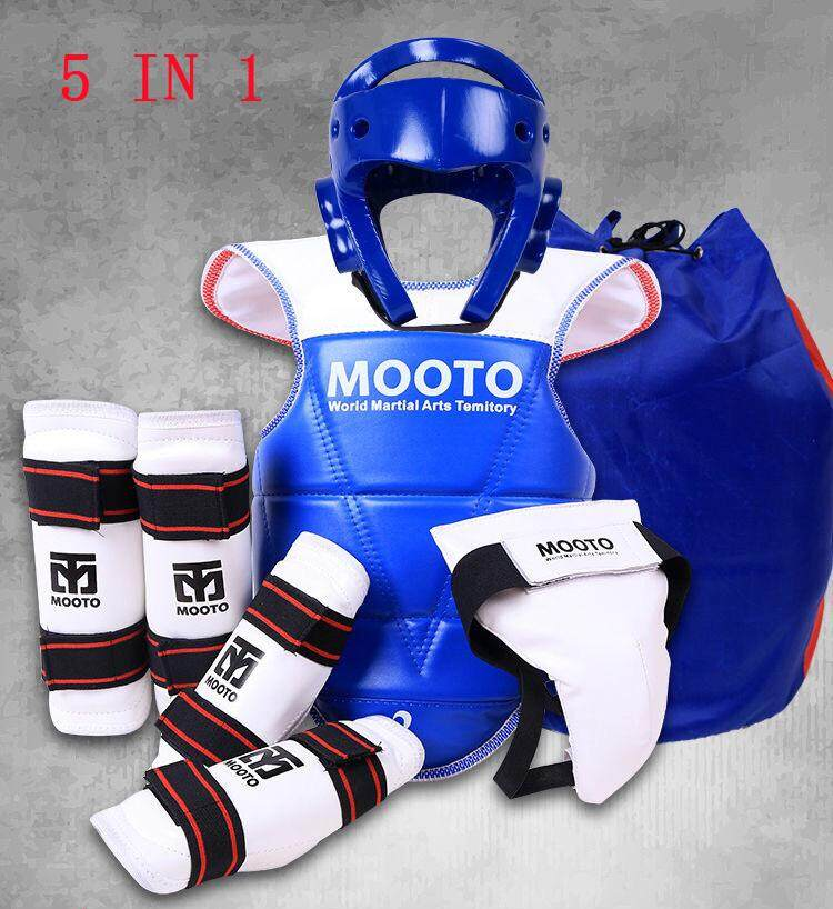 5 IN 1 SET Taekwondo Karate Protective Gear Set With Free Bag For Kids &  Adult-(Male)