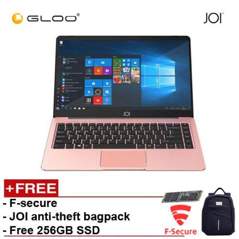 JOI Book 100 – AD-L100RG Cel N3450, 4+32GB, 14  FHD, W10 Home, Rose Gold {Free 256GB SSD + Anti-Theft Backpack - Blue + F-Secure Client Security Premium} Malaysia
