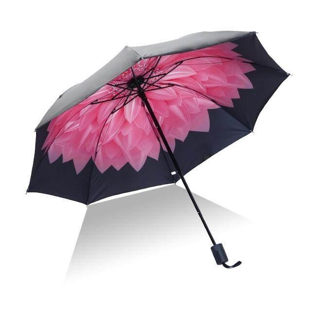 Nuevo Mini plegable paraguas de la lluvia de las mujeres paraguas bolsillo sombrilla chicas anti-UV soleado lluvia paraguas portátil pequeño paraguas para niña,pink cherry
