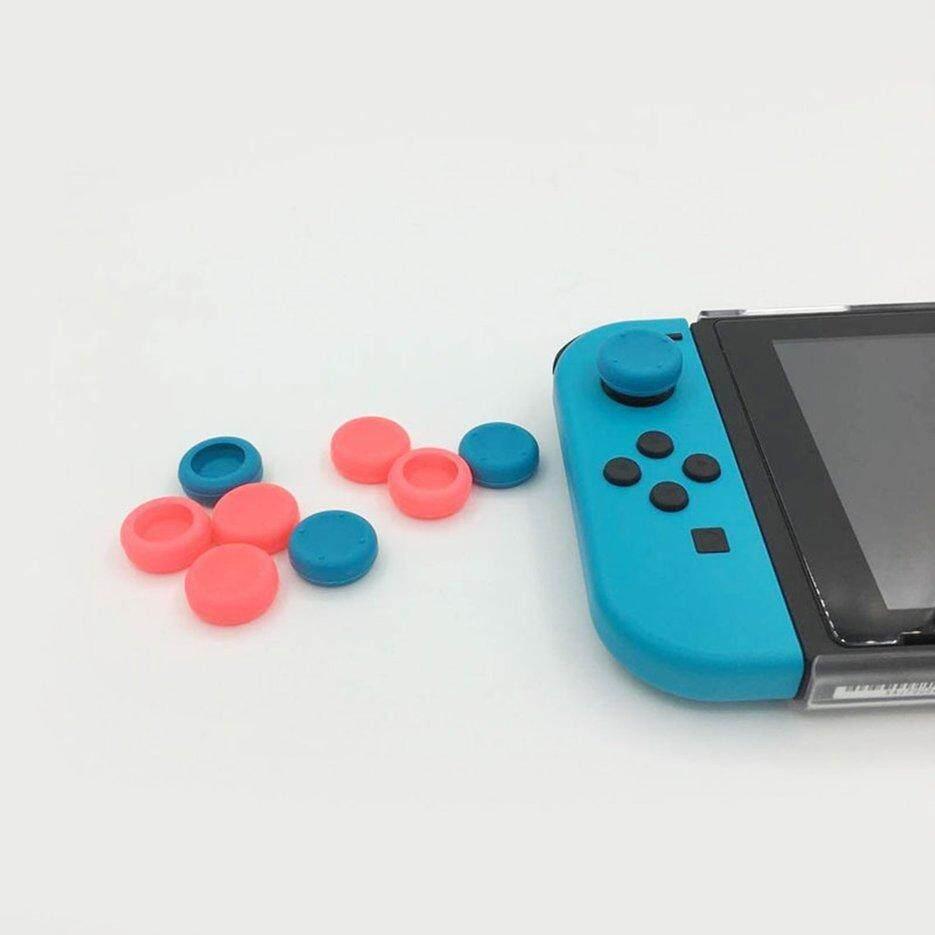 Nóng Người Bán Silicone Mềm Gel Ngón Tay Cái Dán Nắp Capo Chơi Game Joystick Dành Cho Nintend Công Tắc