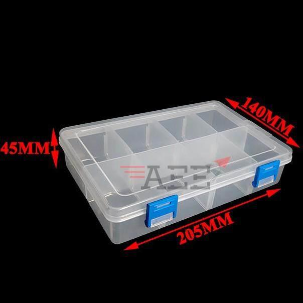 ZX G-200 8 Case Transparent Parts Box (200x140x48mm) (8 Slot)